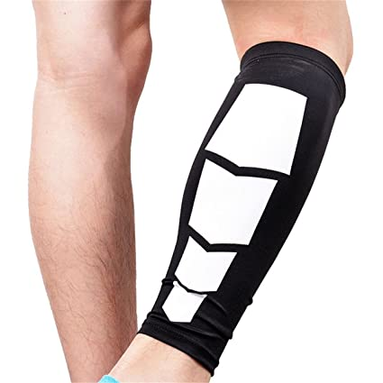 2f748f9c2c7749 Calf Compression Sleeves Leg Support Sleeves for Basketball Football  Outdoor Sports Men and Women Black Single