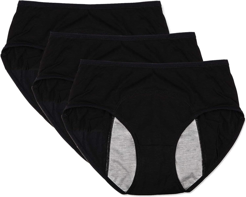 Pack of 3-5 Funcy Women Menstrual Period Protective Panties Leakproof Brief Postpartum Bleeding Underwear