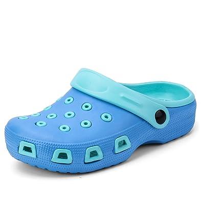 4db7db582107d ALEADER Unisex Kids Classic Clogs Summer Shoes Slip On Boys Girls Cute  Sandals Blue 12 UK