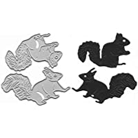 2Pcs Animal Squirrel Cutting Dies,Metal Carbon Steel Die Cut for DIY Album Paper Cards Making Decorative Crafts…