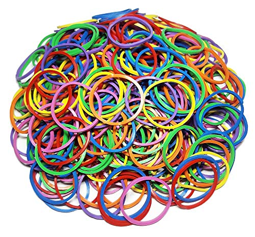 300Pcs 1 25mm Small Rubber Bands Multicolor Bulk Elastic Wide Money Colorful Rubber Bands Ring Stationery Holder Sturdy Strong Stretchable Band Loop School Home Bank Office Supplies