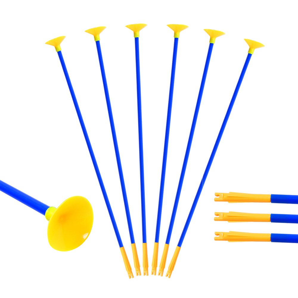 Huntingdoor 23 Inch Youth Sucker Arrows Safe Shooting Hunting Replacement Suction Cup Arrows for Children Archery Outdoor Garden Fun Game Toy Gift 12 Pack