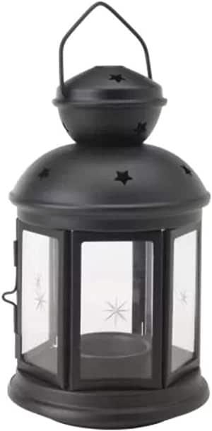 Farol para velas de color negro, apto para uso en interiores y al ...