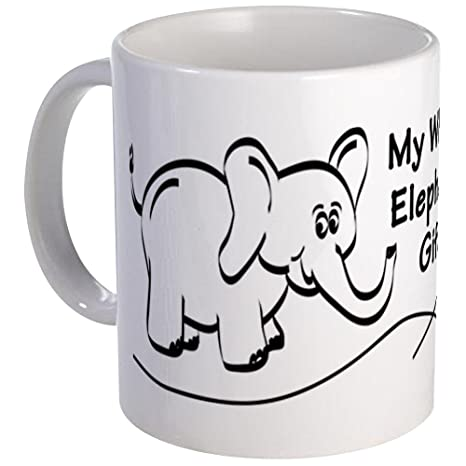 Amazoncom Cafepress My White Elephant Gift Signature Mug Mugs
