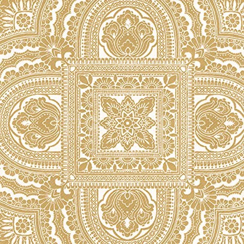 CLASSIQUE cream gold linen feel 12 in pack traditional paper table dinner napkins 40 cm square