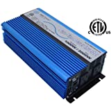 AIMS 1000 Watt, 2000 Watt Peak, Pure Sine DC to AC Power Inverter, USB Port, 2 Year Warranty, Optional Remote, Listed to…