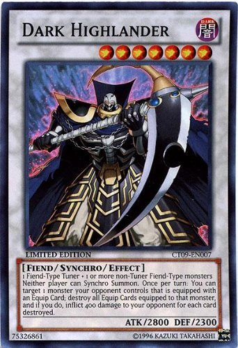 Konami YuGiOh Holiday Tin Promo Super Rare Dark Highlander CT09-EN007