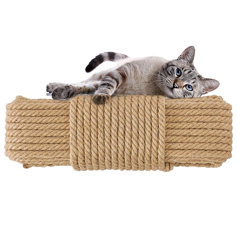 Aoneky Replacement Cat Scratching Post Sisal Rope - Hemp Rope for Cat Tree and Tower (3/8'' 98 Ft) by Aoneky