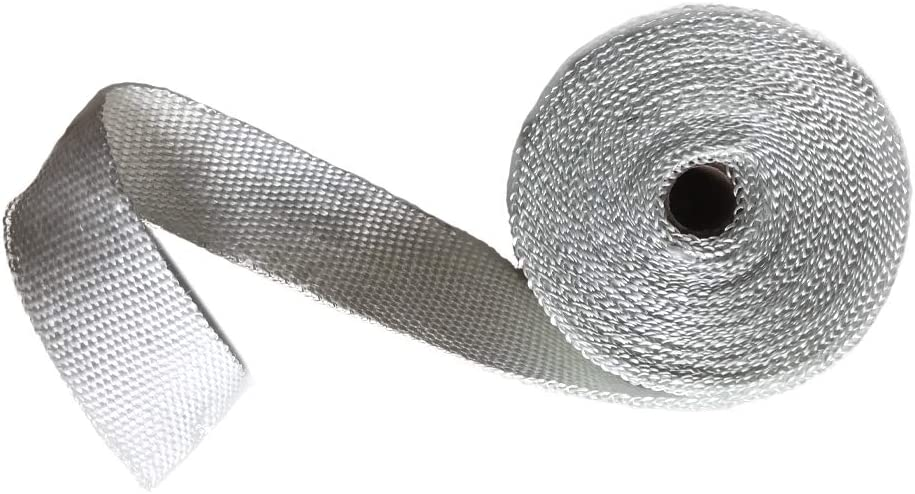 2 x 32 Blue Exhaust Heat Wrap Roll for Motorcycle Fiberglass Heat Shield Tape with Stainless Ties