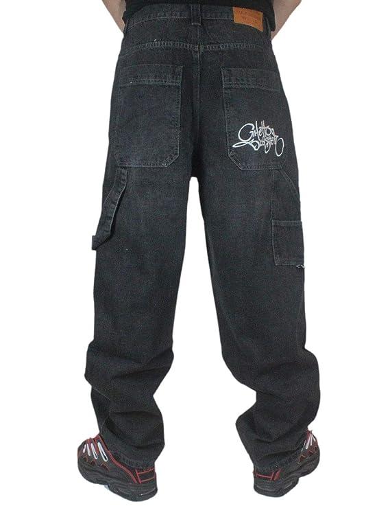 GHETTO BLASTER Pant Baggy Jeans Vast (Blk WHI, 28 USA 42 EU)