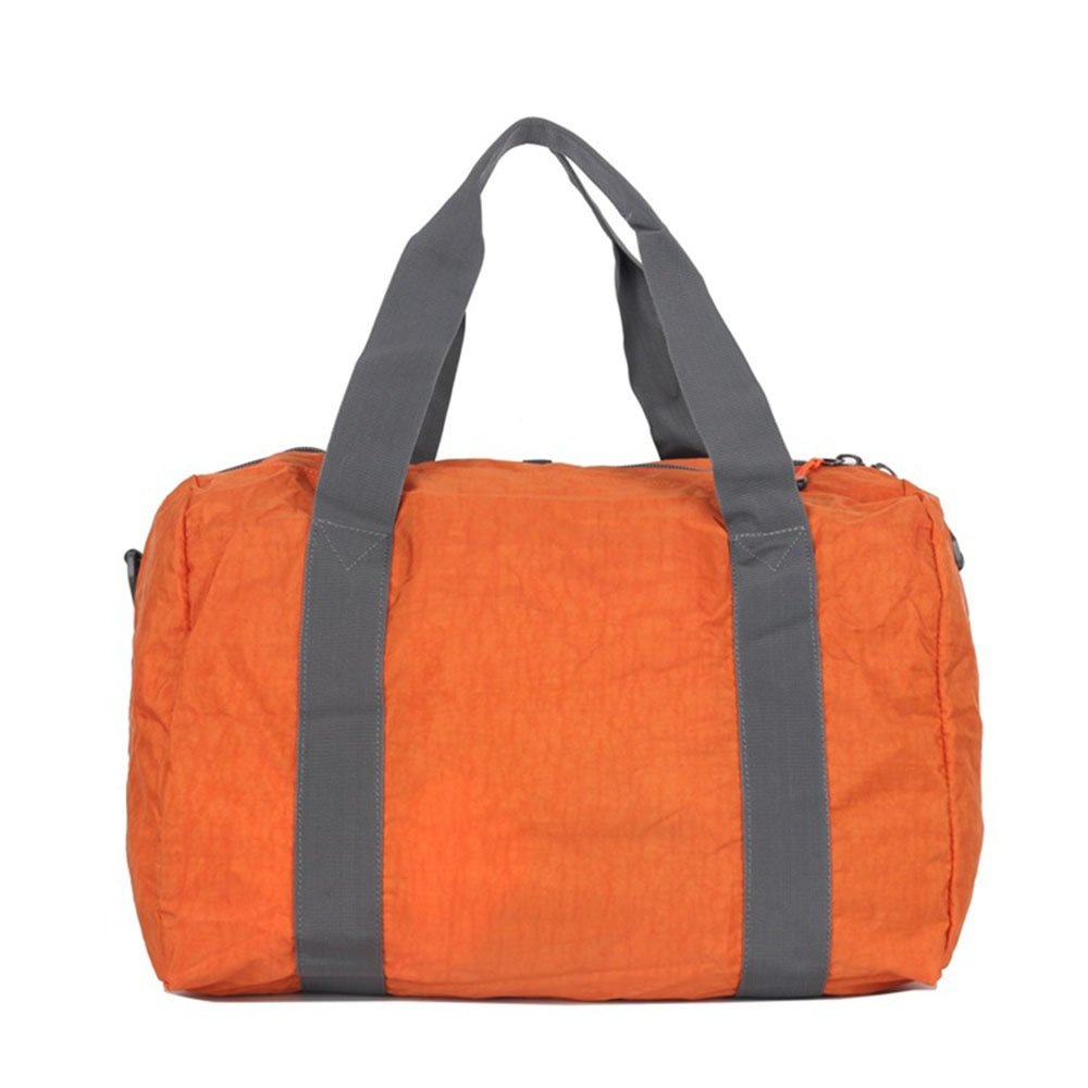 Color : Orange Ybriefbag Unisex Folding Waterproof Nylon Travel Bag Portable Shoulder Bag Storage Bag Vacation