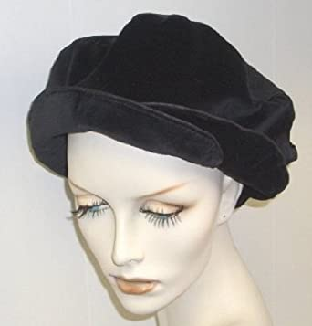 44d7ef0e25055c Black Velvet Double Beret at Amazon Women's Clothing store: Velvet Hat