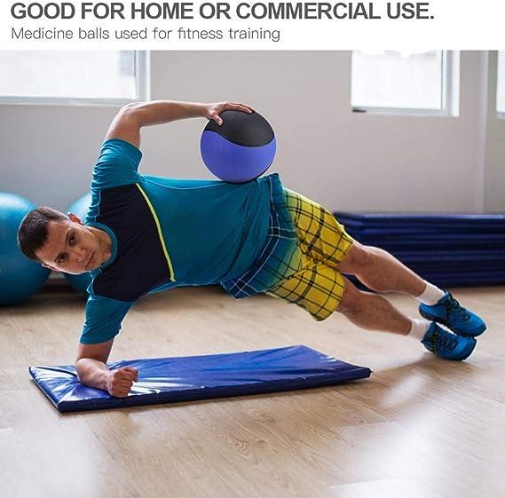 Slam Ball Bola de Goma de la Medicina ponderada de la Aptitud para el Ejercicio de Entrenamiento del m/úsculo del Gimnasio