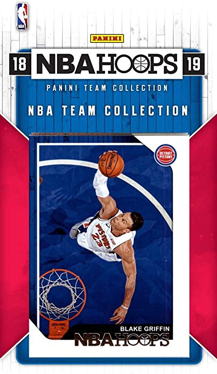 Detroit Pistons 2019 2020 Hoops Basketball Factory Sealed 10 Card Team Set with Blake Griffin Andre Drummond and Derrick Rose Plus