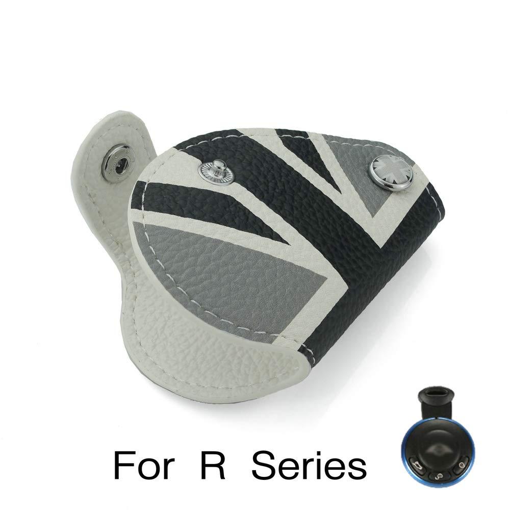 Heinmo For Mini Cooper R55 R56 R57 R60 R61 Clubman Countryman Union Jack Car Funda de Cuero Genuino Bolsa de la Llave Funda Car Styling Gray Rice