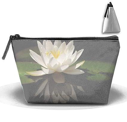 60069d747aed Amazon.com: jiajufushi White Lotus Flower Toiletry Bag, Travel ...
