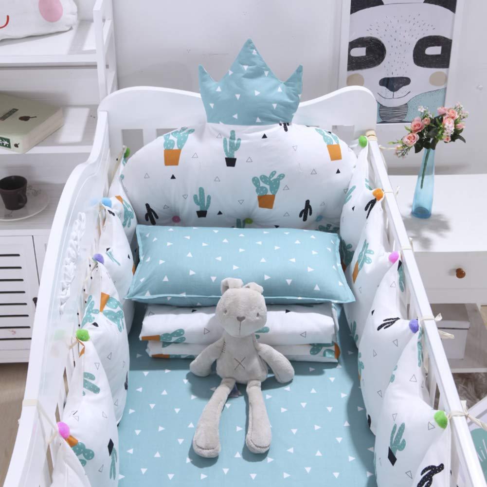 Xxn コットンのリバーシブル ベビー寝具セット,バンパーのすべてのラウンド ユニセックス 無衝突赤ちゃんベビーベッド バンパー パッド入りベビーベッド バンパー2-防止アレルギー 2-H パッケージC   B07KY7ZL62