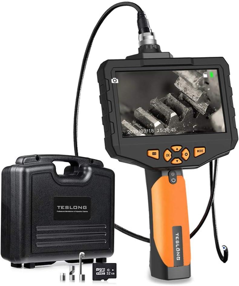 Teslong Inspektionskamera 4 5 Zoll Farb Ips Monitor Mit 1080p Hd Auflösung Aufnehmen Industrie Ip67 Wasserdichte Hand Endoskop Kamera Kabel Schlangenkabelkamera 5 5mm Durchmesser 32gb Tf Karte 1 M Auto