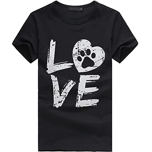 201f04cfe83f Funny Cute Dog Mom Tee Shirts for Women with Sayings Short Sleeve Letter  Print Heart Graphic