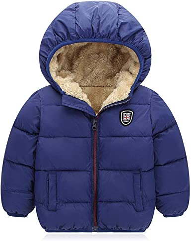 Kids Toddler Boy Girl Winter Hooded Coat Jacket Baby Quilted Padded Warm Outwear