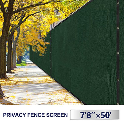 Outdoor Patio Privacy Fence Screen 8x50 Yard Windscreen Chain Link Fencing  Cover Materials With Brass Grommets Landscape ...