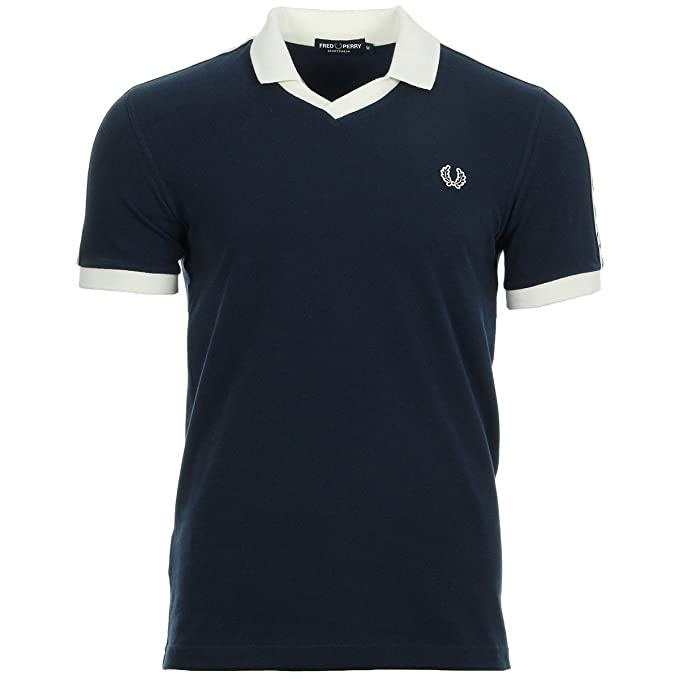 Fred Perry Taped Pique Shirt Carbon Blue, Polo - L: Amazon.es ...