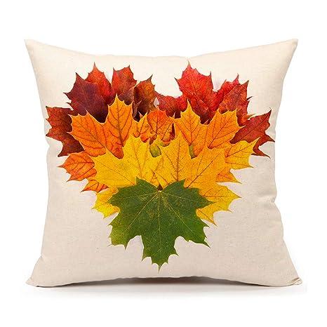 Amazon.com: Funda de cojín con hojas de otoño ...