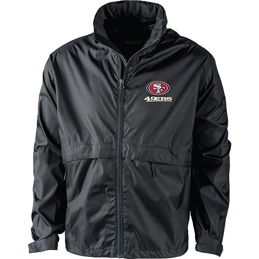 b6cecc18 NFL San Francisco 49Ers Men's Sportsman Waterproof Windbreaker Jacket,  Black, large