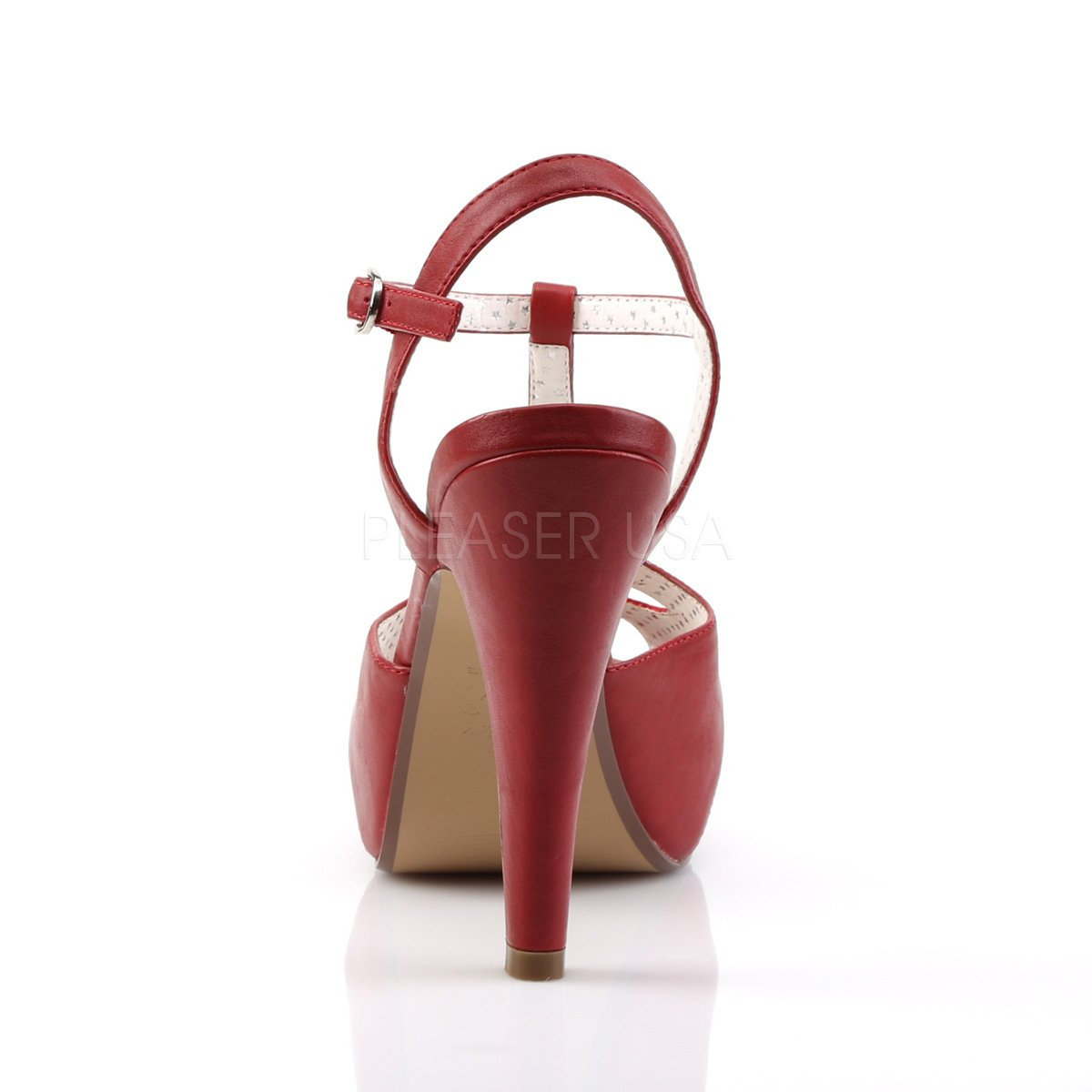 Higher-Heels Pinup Couture Couture Couture Riemchen Sandaletten Open Toe mit Plateau Bettie-23 rot 937a2b
