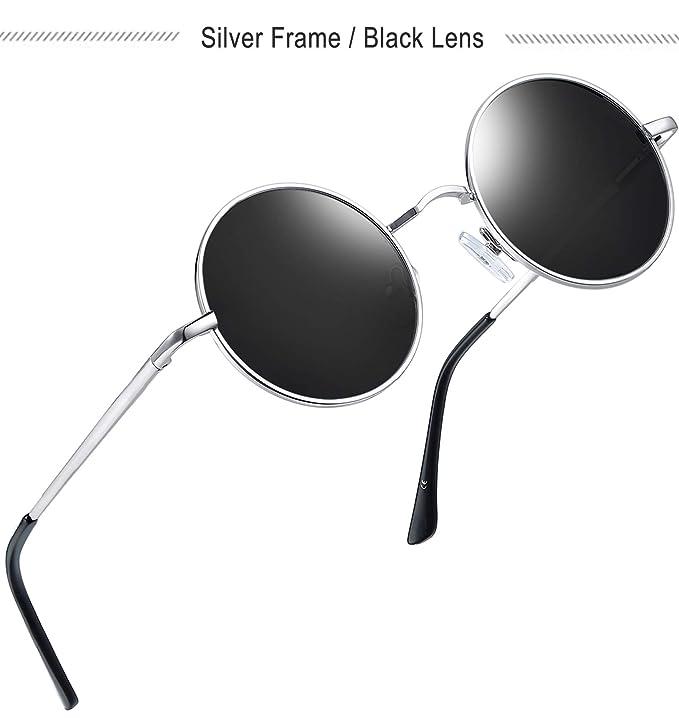Amazon.com: Joopin - Gafas de sol polarizadas redondas y ...
