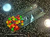 100 Pcs 4x2x12 Clear Side Gusseted Cello Cellophane Bags Good for Candy Cookie Bakery (by UNIQUEPACKING)