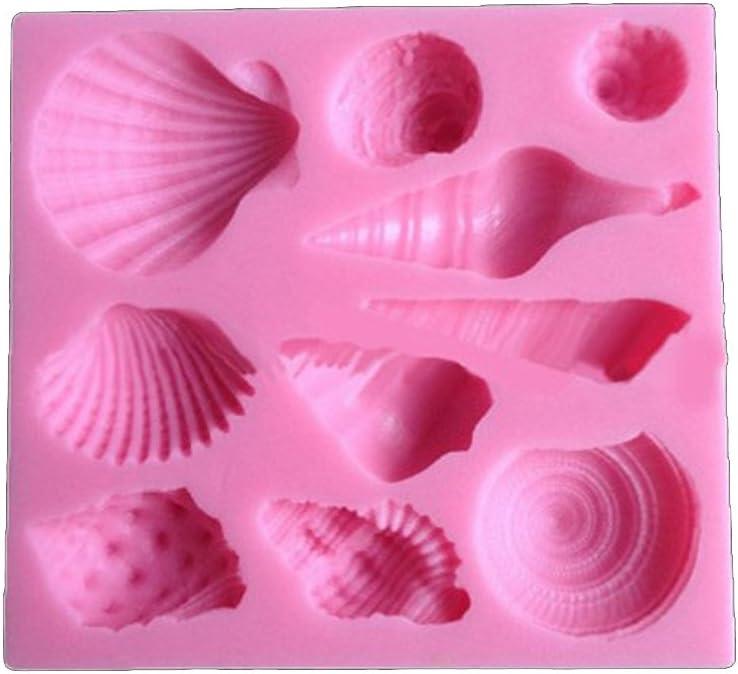 DIY Seashell Coquillage Moule /à g/âteau en silicone Chocolat Fondant Moule