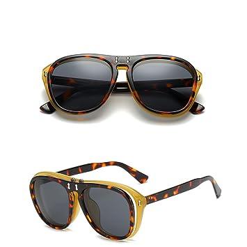 Amorar Mens Womens Vintage Flip de Up Gafas de sol boho Chic ...