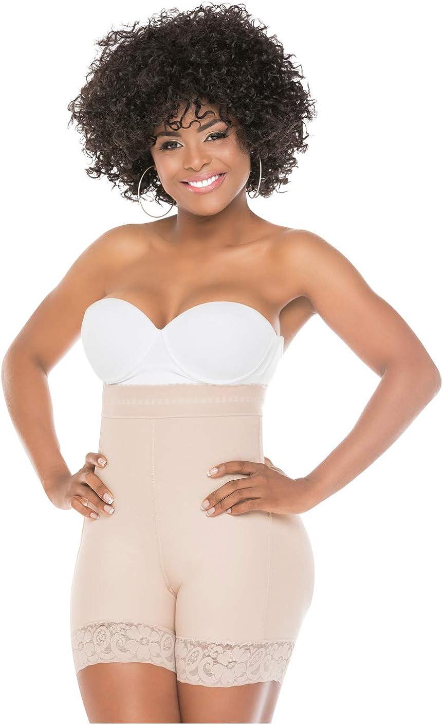 Salome 0218 High Waist Compression Shapewear Tummy Control BBL Shorts Fajas Colombianas para Mujer Levanta Cola at  Women's Clothing store