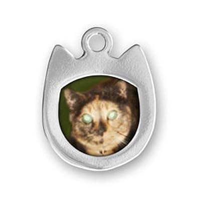 Amazon.com: Abalorio de plata de ley con forma de cabeza de ...