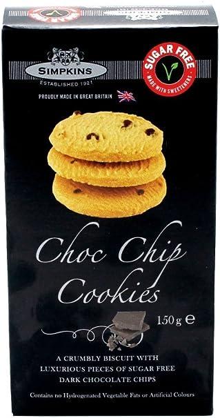 Simpkins No Added Sugar Chocolate Chip Cookies 150g