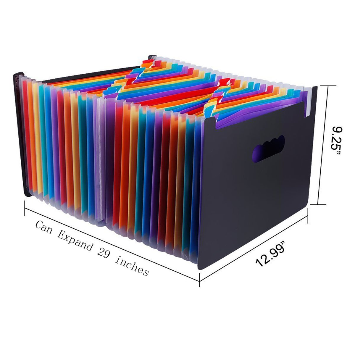 24 Pocket Expanding File Organizer Multicolor Expandable Accordion Style Filing Folder 24 Pocket, Multi by Egros Home /& Office