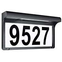 Deals on LeiDrail House Numbers Solar Powered Address Sign LED