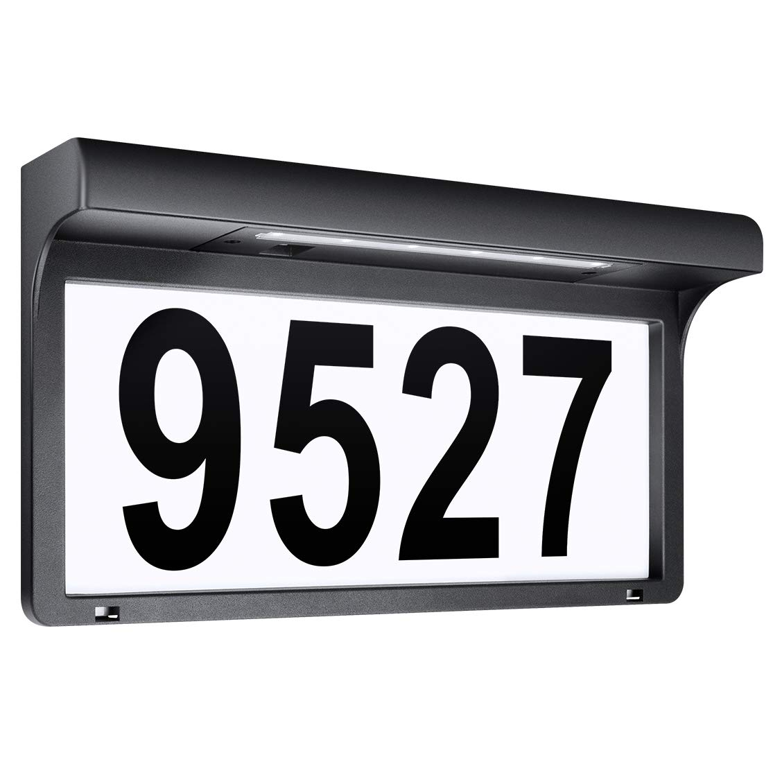 LeiDrail Address Numbers for Houses Solar Powered Address Sign LED Reflective Illuminated House Number Outdoor Lighted Metal Plaque Light Up for Street Yard