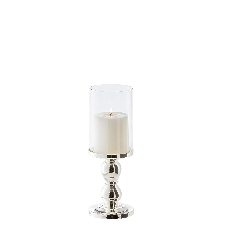 EDZARD Lantern/Tea Light Holder/Candle Holder Mascha, silver-plated,H 11 inch