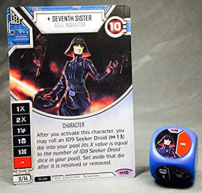 Star Wars Destiny Empire At War Seventh Sister Legendary Card and Die (1)