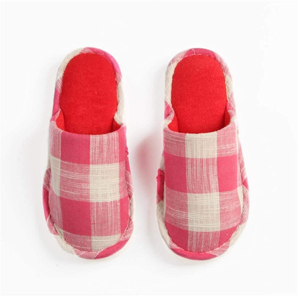 1 Lady Slippers Four Seasons Home Slippers Ladies Soft Indoor and Leisure Slippers Plaid Pattern Cute Girlish Keep Warm Casual Female shoes