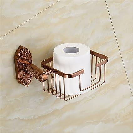 FQRYP-Accesorios de baño Todas de cobre archaize cesta, cesta de toallas, cosméticos