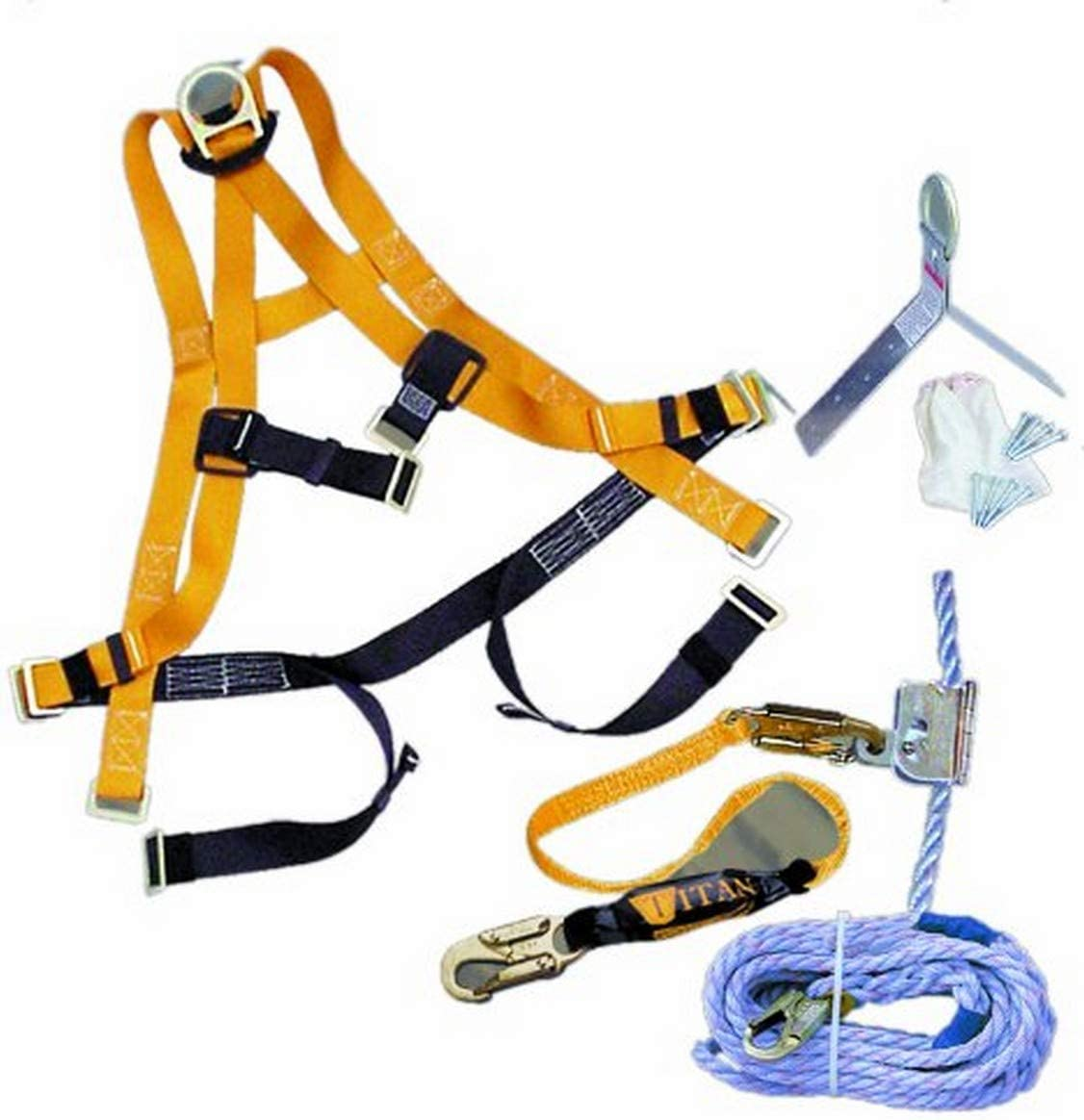 Miller Titan by Honeywell TRK4000/50FTAKU 50-Feet Titan Roofing Fall  Protection Full Body Harness Kit - Fall Arrest Safety Harnesses - Amazon.comAmazon.com