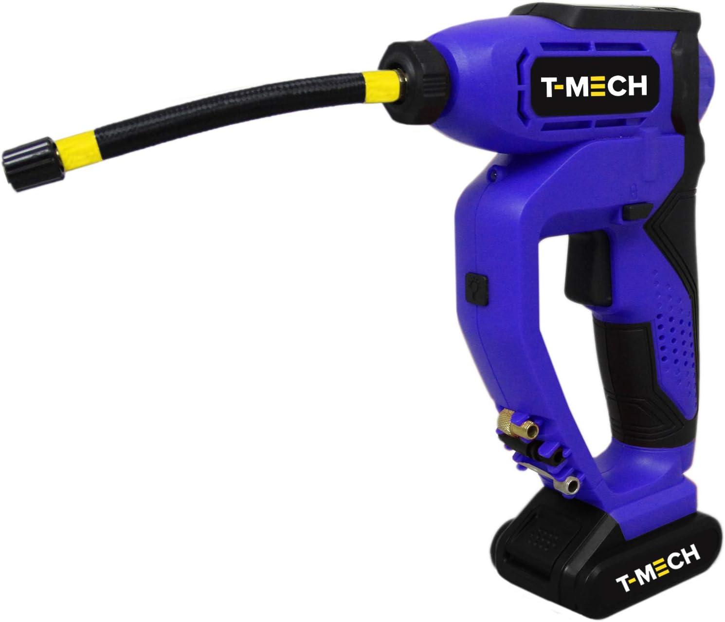 T-Mech Compresor de Aire Coche Portatil Bomba Inflador 12V DC para ...