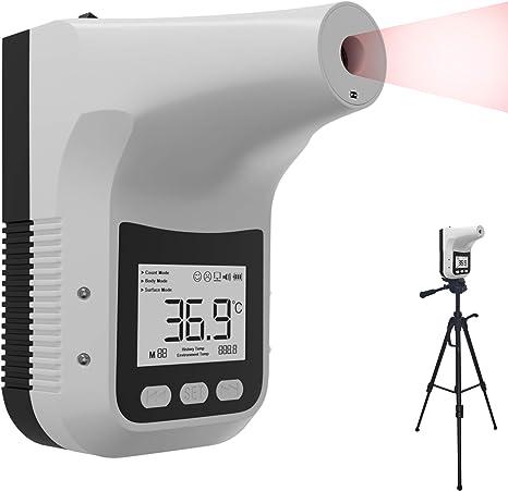 K3 Pro Kontaktloses Fieberthermometer Mit Photosensitivem Distanz Sensor Zur Wandmontage Berührungsloses Profi Thermometer Für Eingangskontrolle Stirn Thermometer Küche Haushalt