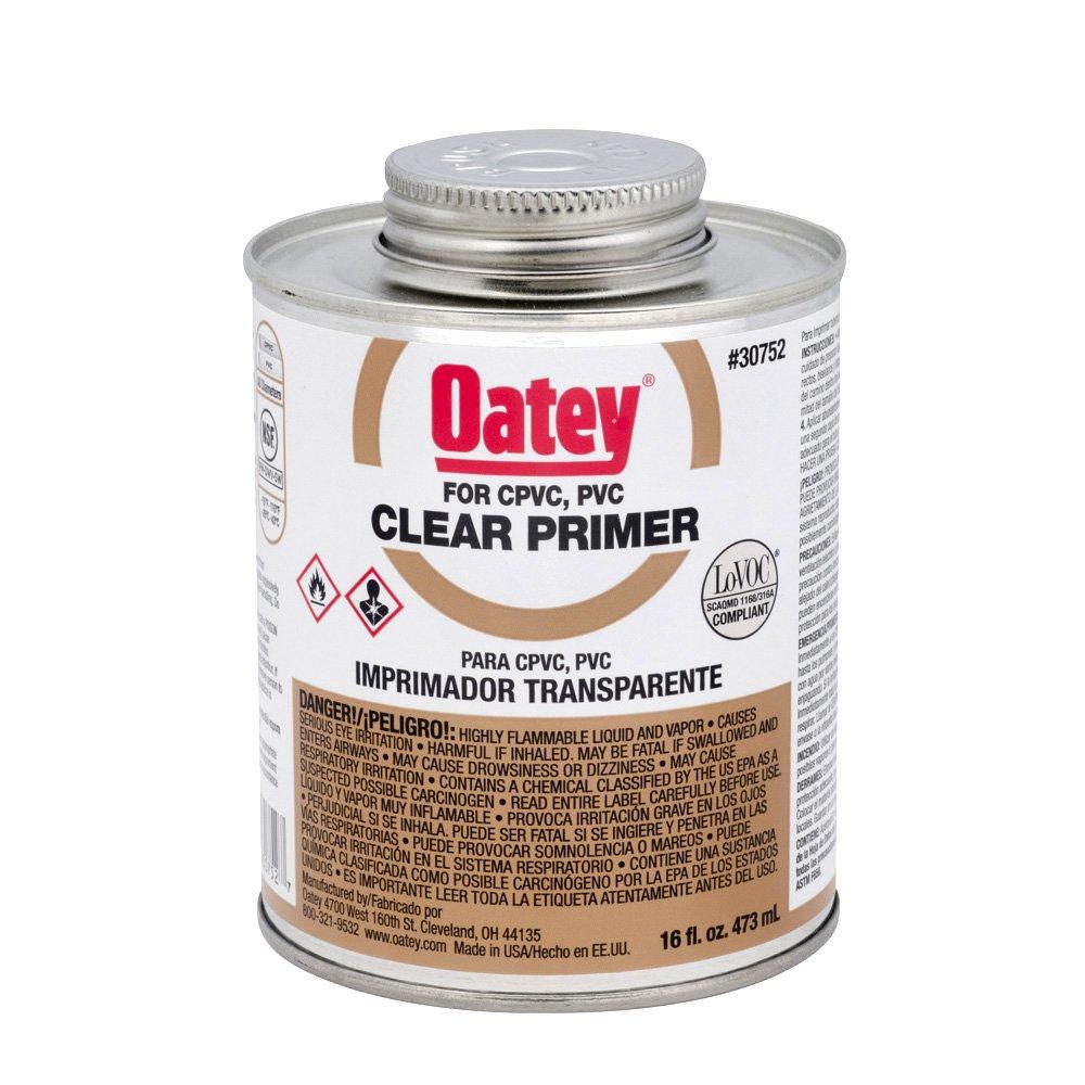 Oatey 30752 NSF Listed Primer, Clear, 16-Ounce