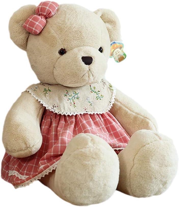 KEDE Bear Plush Toy Large Stuffed Animals Big Bears Plush Toys Gift for Girls Children Girlfriend Valentine's Day (21.6in(55cm),Pink Female Bear)