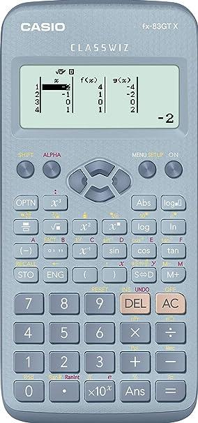 1db955a7a506 Casio fx-83GTX Calculadora científica Azul  Amazon.es  Oficina y papelería