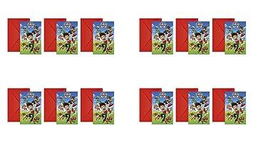 Patrulla Canina 2566; Pack 12 Invitaciones Ideal para Fiestas y cumpleaños